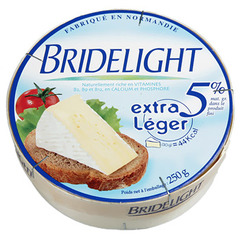 Fromage Bridelight Lait pasteurise 5% MG 250g