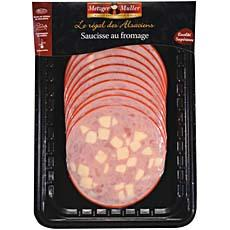 Saucisse au fromage METZGER MULLER, 200g