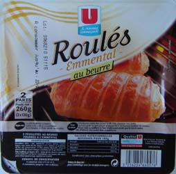 2 Roules au fromage pur beurre U, 260g