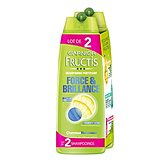 shampooing fortifiant force & brillance cheveux normaux fructis 2x250ml