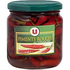 Piments rouges U, bocal de 37cl soit 140g