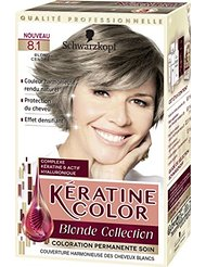 Kératine Color Coloration Permanente 8.1 Blond Cendré 60 ml