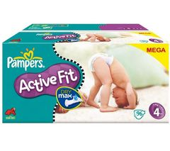 Pampers Active fit maxi 7/18 kg x96 taille 4