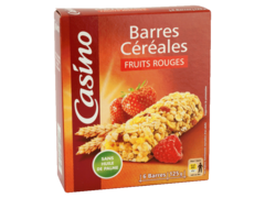 Barres cerealieres fruits rouges