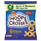 Walkers Hoops & Crosses - Cheese (6x18g)