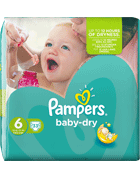Pampers baby dry geant 16/26kg x33 taille6