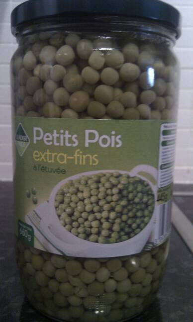 Petits pois extra fins 445g