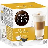 Nescafé Dolce Gusto Latte Machiato 16 Capsules, 8 servings (Pack of 3, Total 48 Capsules, 24 servings)