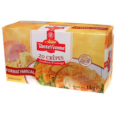 Crepes Tante Yvonne Fromage fondu x20 1kg