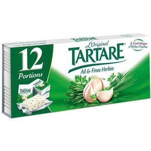 FromageTartare 68%mg Ail et fines herbes 12x15g