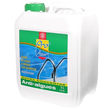 Anti algues pro 39 azur 5l tous les produits piscines et for Anti algues piscine
