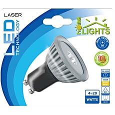 SPOT LED LASER HOMELIGHTS 4,5W GU10 BLANC CHAUD