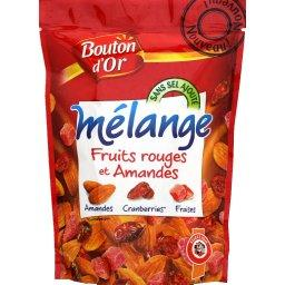 Melange fruits rouges et amandes, le sachet de 120 g
