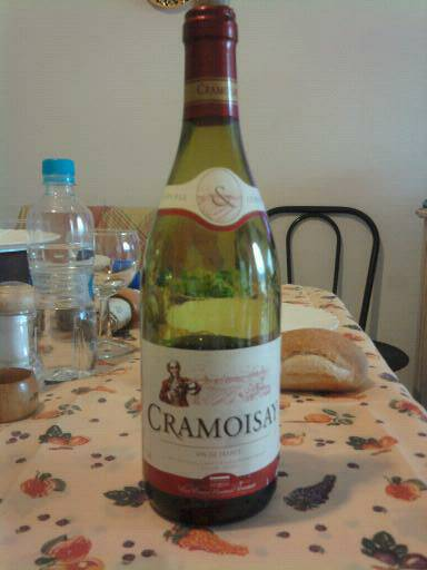 Vin de table de France rouge CRAMOISAY, 75cl