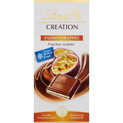 Création au lait fruit de la passion LINDT, tablette de 150g