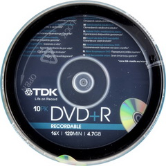 DVD + R recordable 16x/120 min/4,7GB