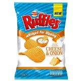 Walkers Ruffles Ridged Crisps - Cheese & Onion (150g)