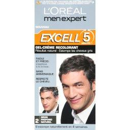 Gel creme colorant pour homme EXCELL 5, brun profond naturel n°2