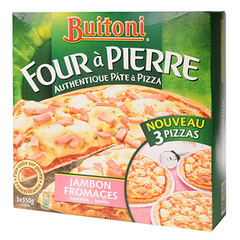 Pizza Four a Pierre Buitoni Jambon fromage x3 1.05kg