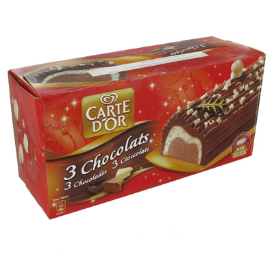 Buche glacee Carte D'Or 3 chocolats 1l