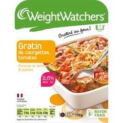 Weight Watchers gratin courgette tomate jambon pdt 290g