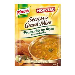 secrets de grand mere soupe poulet roti au thym et vermicelles tous les produits potages. Black Bedroom Furniture Sets. Home Design Ideas
