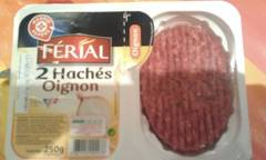 Steak haché ferial Aux oignons 15%mg - 250g France