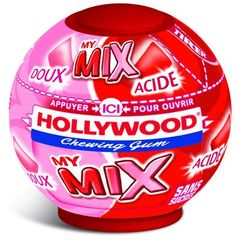 Chewing-gum Hollywood fraise My mix sans sucre sphere 87g