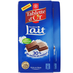 Chocolat au lait Tablette d'Or Allege 2x100g