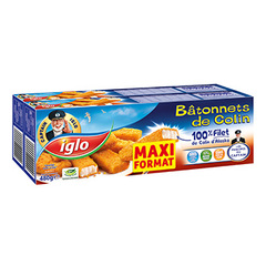 Filet de poisson Captain Iglo 32 batonnets 2x480g