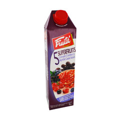 Jus 5 Fruits : Grenade, Cranberry, Myrtille, Cassis, Raisin