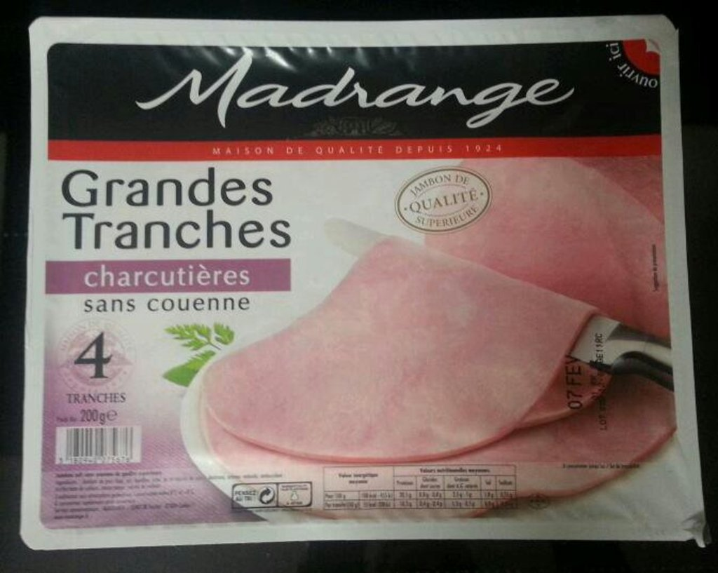 Madrange grandes tranches charcutieres sc 4 tranches soit 200g