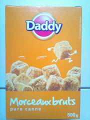 petits morceaux bruts pure canne daddy 500g