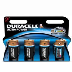Duracell Ultra Power Piles Alcalines type C, Pack de 4