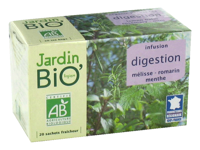 Infusion melisse-romarin-menthe Digestion Legere Jardin Bio, 20 sachets, 30g