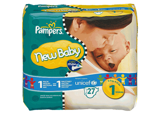 Pampers New Baby new born 2-5kg x27 taille 1