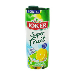 Jus de fruits au citron et citron vert Superfruit JOKER, brique de 1l