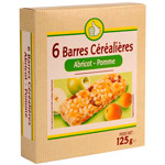 Pouce barres cerealieres pomme abricot x6 -125g