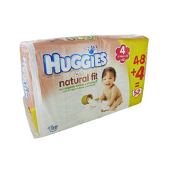 Huggies natural fit jumbo 7/14kg x48 taille 4