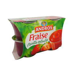 Dessert fruitier fraise Recette Veloutee ANDROS, 4x97g