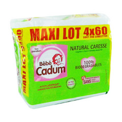 Lingettes bebe natural caresse 4x60