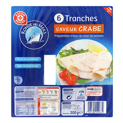 Tranches saveur crabe Rondes des mers x6 200g