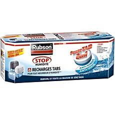 6 Recharges Power Tabs 2 en 1 pour absorbeur Stop Humidite RUBSON