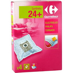 Sacs aspirateurs synthetiques-Electrolux Philips Tornado 24 +