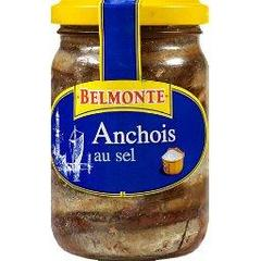 Belmonte, Filets d'anchois au sel, le bocal de 154g