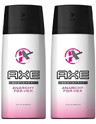 Axe déodorant parfumant femme spray anarchy for her 150ml - Lot de 3