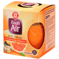 Bougie anti tabac Bien Air Gingembre pamplemouse x1