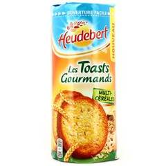 Toasts gourmands multicéréales HEUDEUBERT, 145g