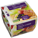 Auchan compote pomme cassis mûre 8x100g