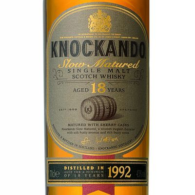 Single malt scotch whisky 18 ans d'age